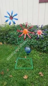 Custom Flowers with Globe 145.00