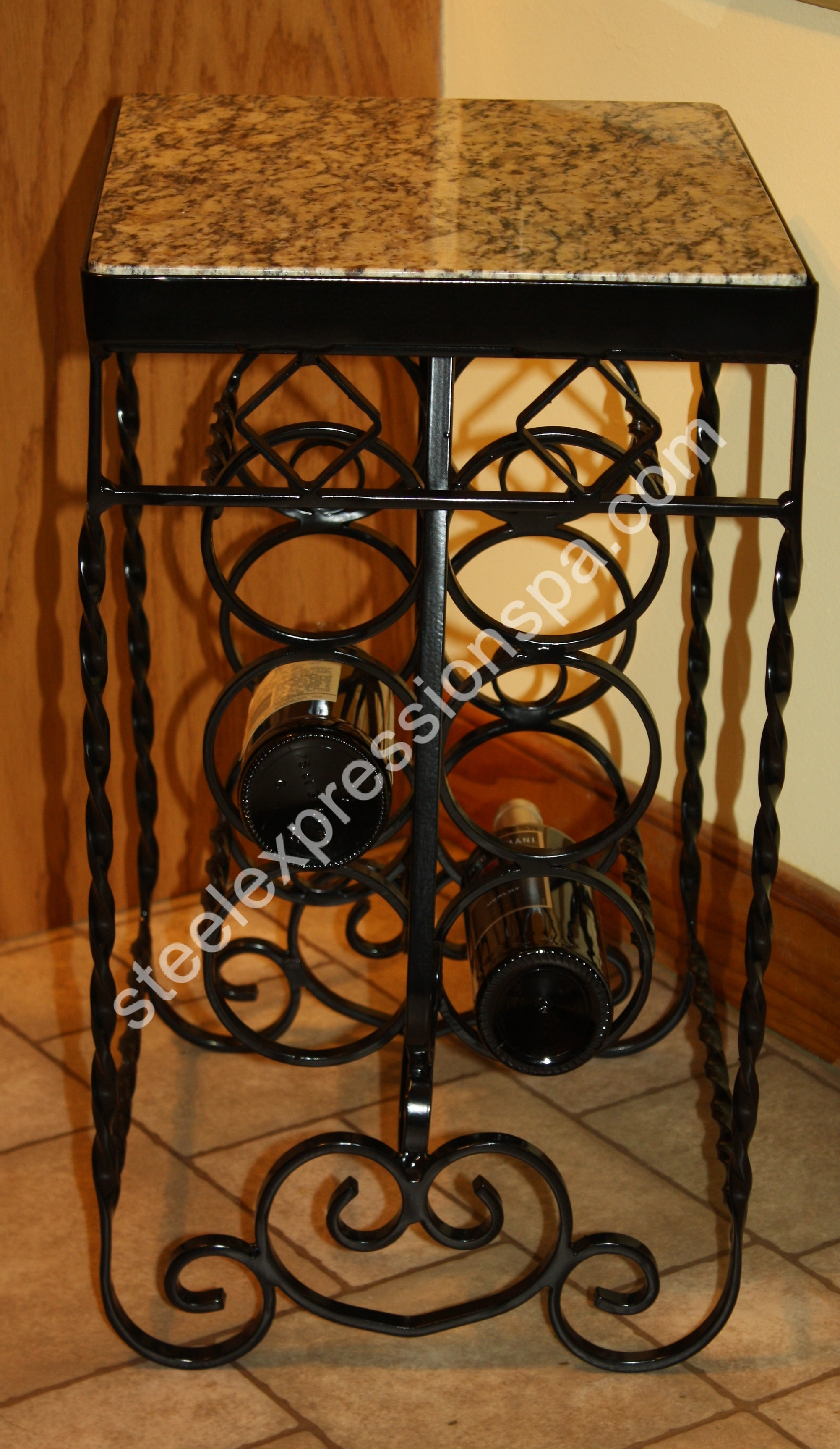 reviews tabletop iron mounted bottle series kitchen pdx wine wall vintageview rack wayfair