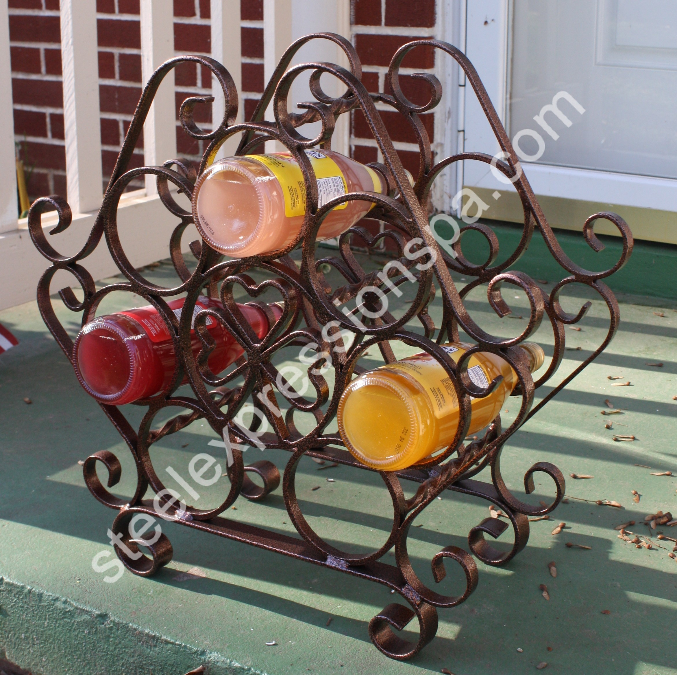 of with etagere craft wrought iron aft inc rack asp metal pensacola wine