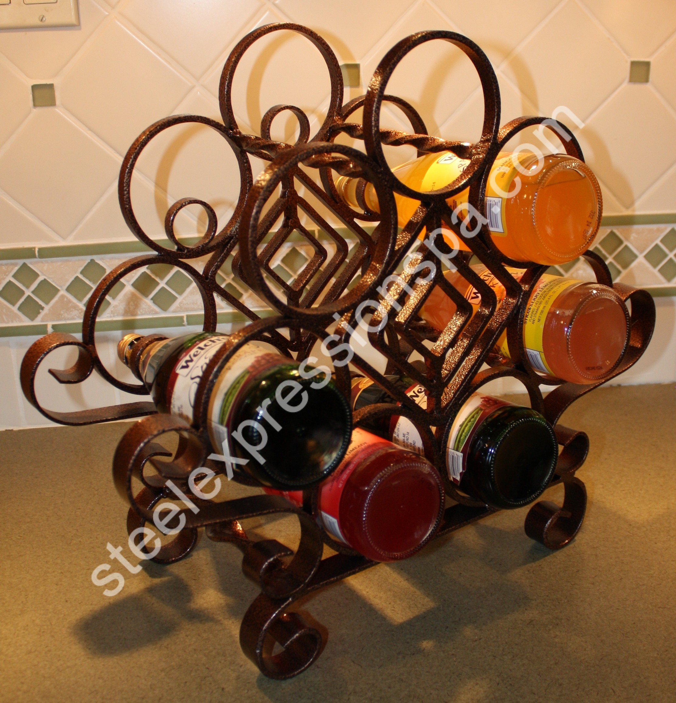 custom 7 bottle wine rack