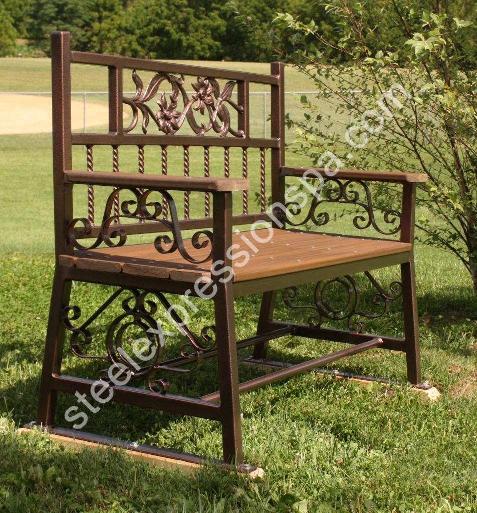Custom Sunflower Park Bench