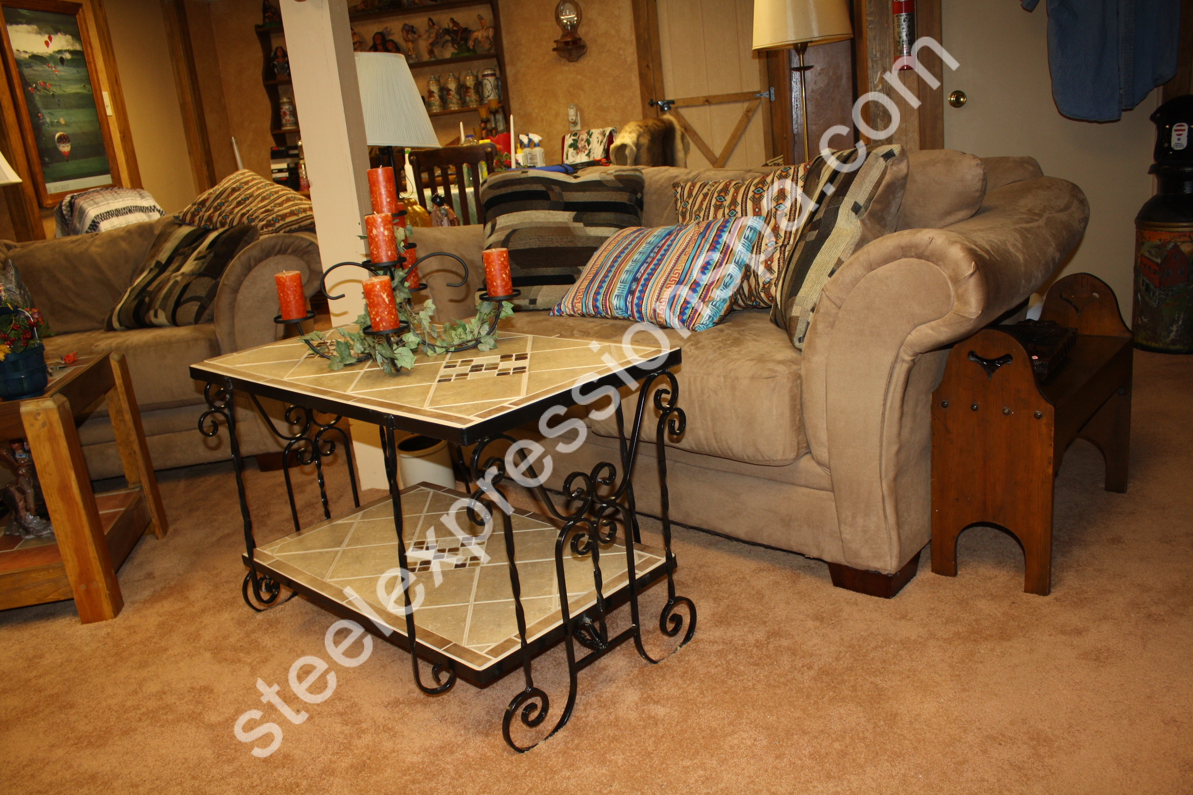 Wrought Iron Living Room Furniture Custom Wrought Iron Coffee Tables Steel Expressions Lancaster