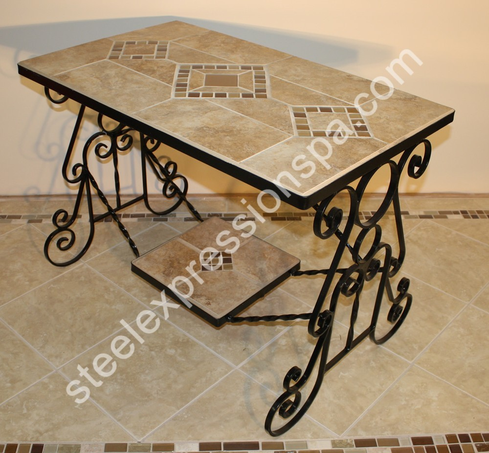 Custom wrought iron coffee tables steel expressions lancaster county pa Wrought iron coffee tables