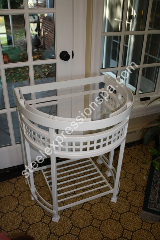 Custom Fit Bathroom Vanities custom wrought iron bathroom vanities - steel expressions